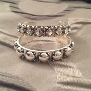 Baublebar Silver bracelet set!